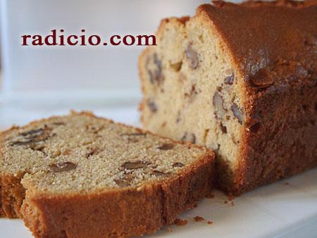 Κέικ με καρύδια και μαύρη ζάχαρη