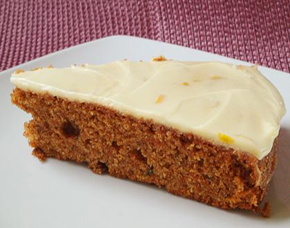 Κέικ με καρότο και πορτοκάλι