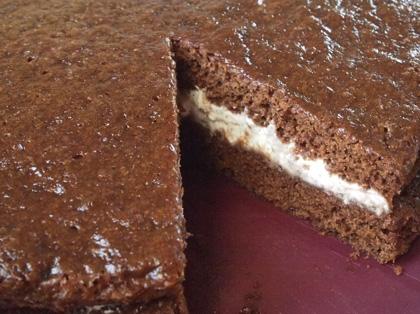 Κέικ σοκολάτα και καφέ