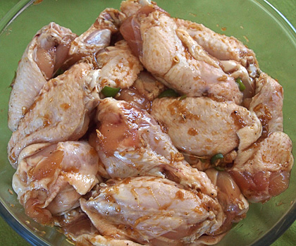 Φτερούγες κοτόπουλου - μαρινάδα