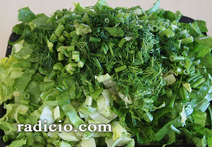 λαχανικά για μαγειρίτσα