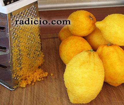 Γλυκό περγαμόντο τρίψιμο φλούδας