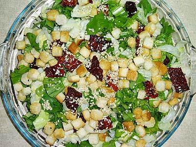 Συνταγή: Σαλάτα ρόκα με λιαστή ντομάτα