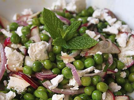 Σαλάτα με αρακά και φέτα