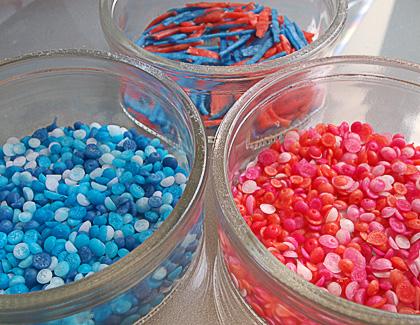 Σπιτικά sprinkles (χρωματιστή τρούφα)