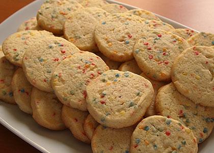 Μπισκότα κομφετί Χριστουγεννιάτικα